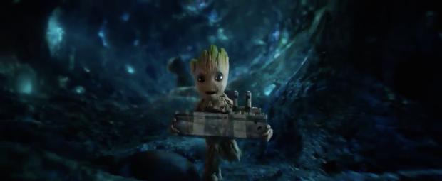 Running Baby Groot