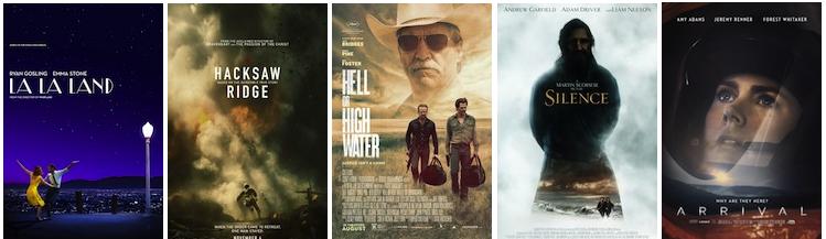 Summit Entertainment; Summit Entertainment; CBS Films; Paramount Pictures; Paramount Pictures.