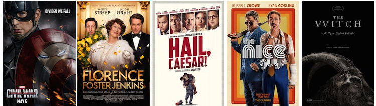 Walt Disney Studios; Paramount Pictures; Universal Pictures; Warner Bros.; A24.