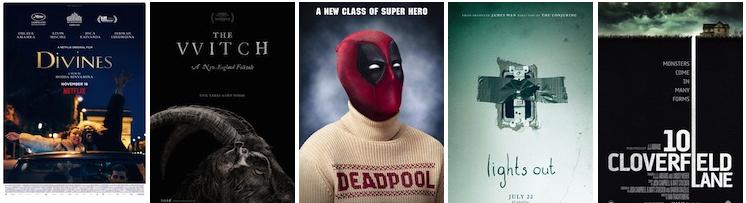 Netflix; A24; 20th Century Fox; Warner Bros.; Paramount Pictures.